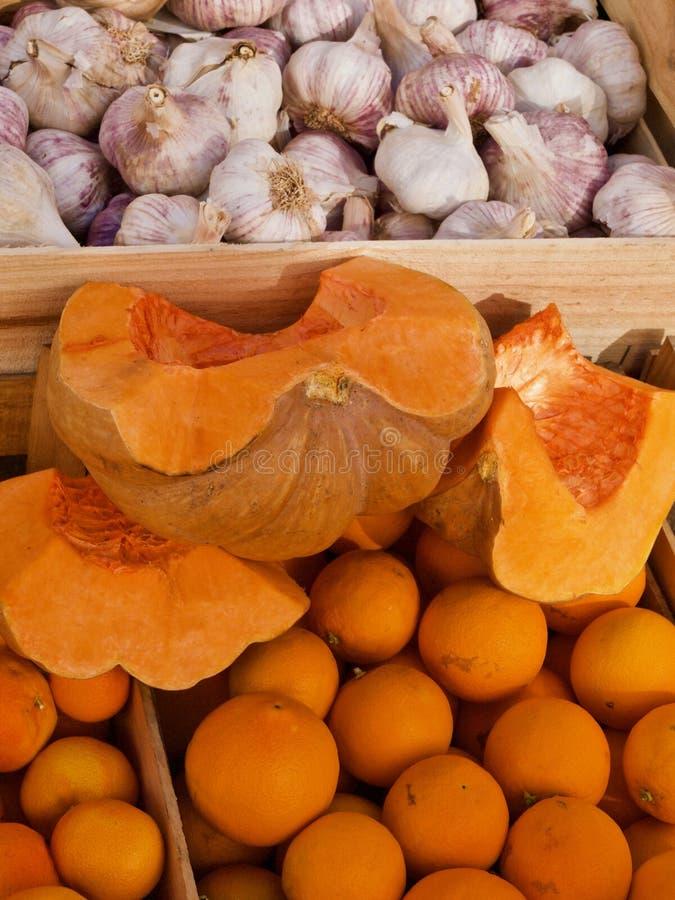 Makro av en öppen söt orange melon royaltyfria foton