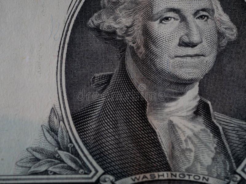 Makro av en sedel för dollarräkning royaltyfri bild