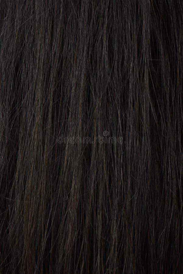 Makro av mörkt hår för kvinna royaltyfri bild