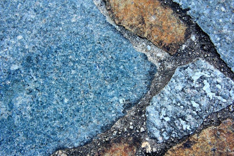 Makro- Błękitnej skały tło 5 zdjęcia stock