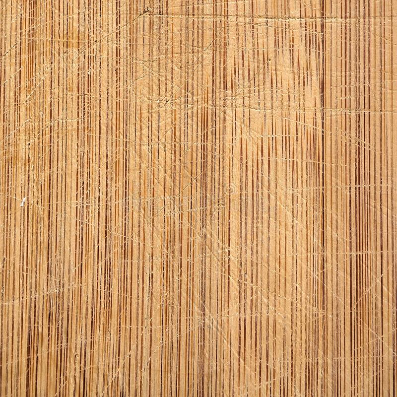 Makro- bambusowej drewno adry tnąca deska z nóż ocenami, dobrze używać w kuchni fotografia stock