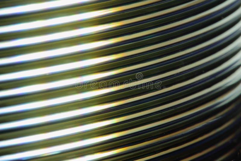 Makro CD Stapel lizenzfreie stockbilder