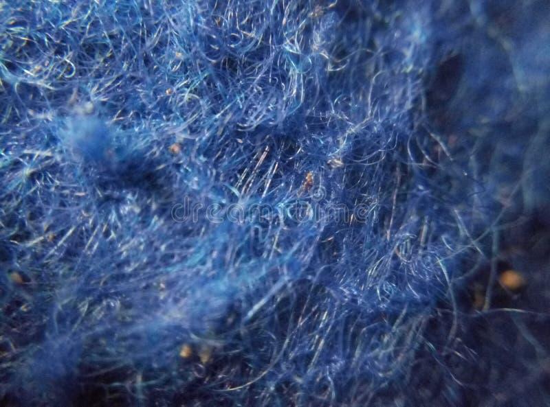 Makro des blauen Teppichs stockfotos