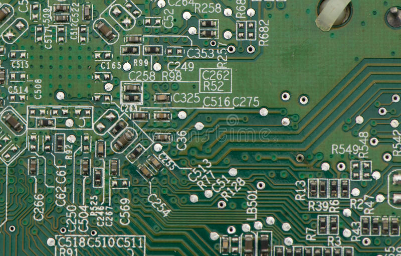 Makro des PC-Stromkreises stockfotografie