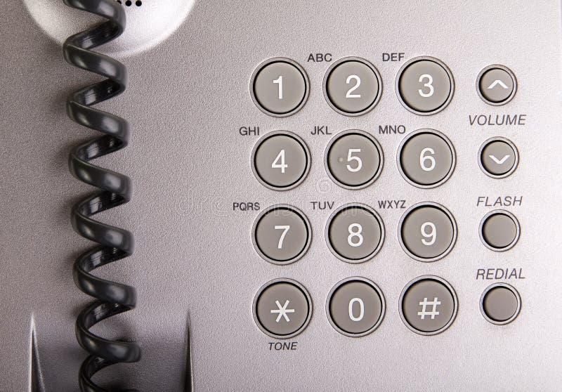 Makro des Telefontastaturblocks stockfotografie