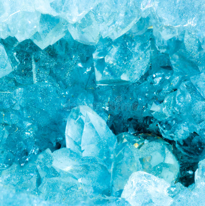Makro einer aquamarinen Farbdruse stockfotos