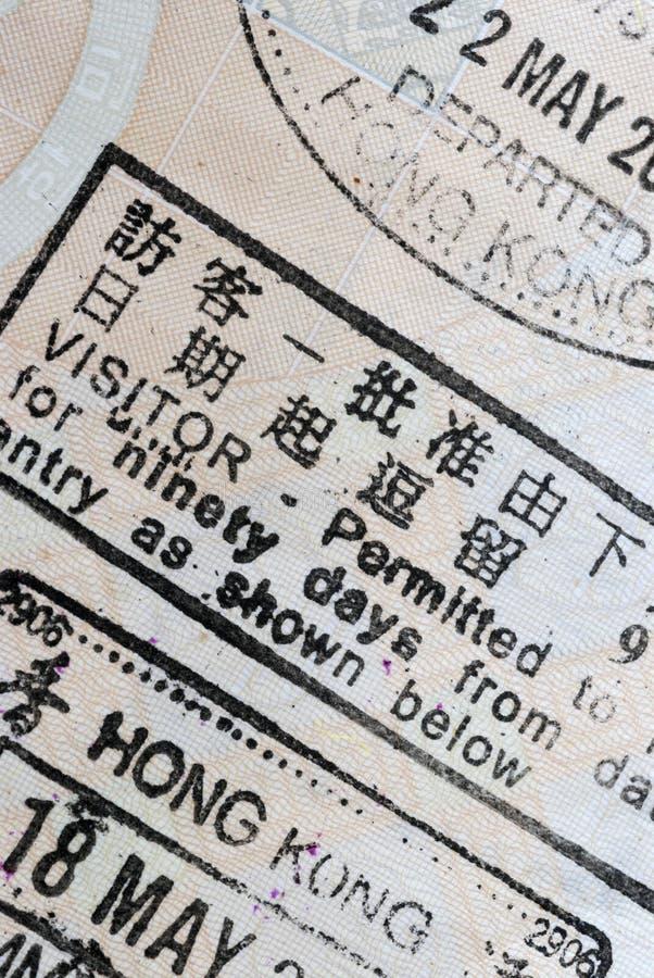 Makro einer chinesischen Hong Kong-Erlaubnis lizenzfreie stockfotografie