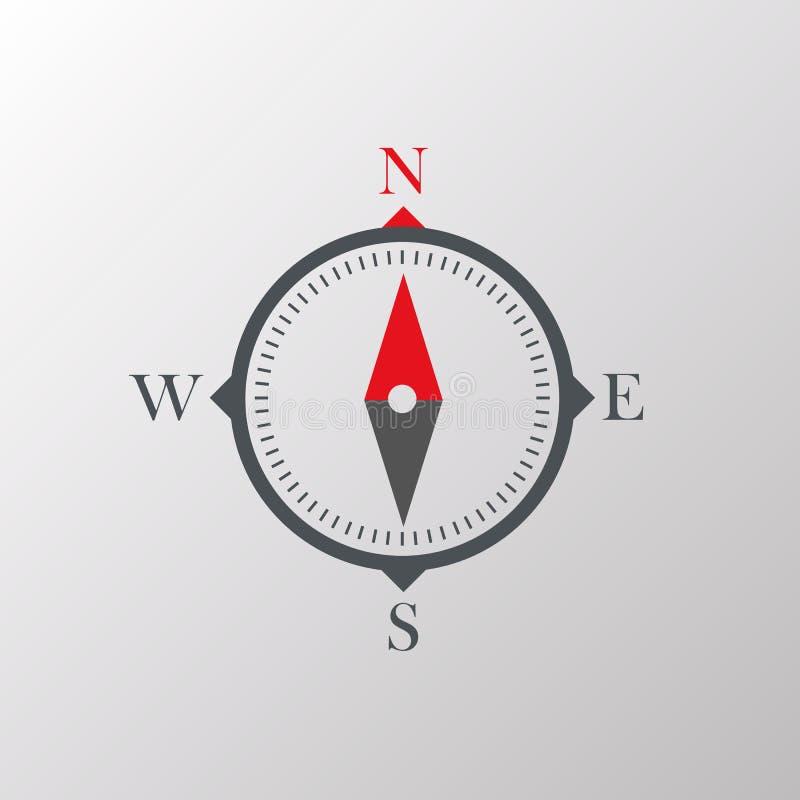 makro för bakgrundsclosekompass upp white stock illustrationer