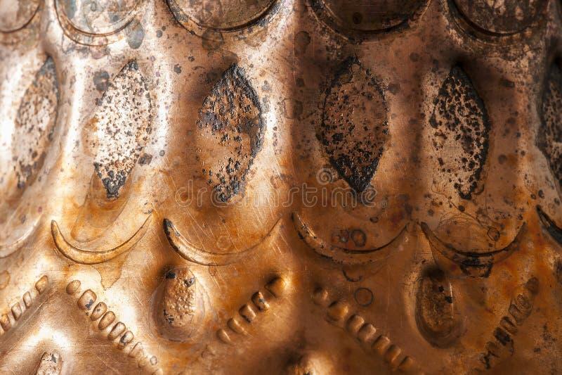 Makro för bosnierkopparcoffekopp arkivfoto