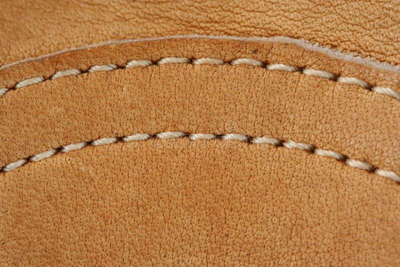 makro för läder för bakgrundsbaseballhandske royaltyfria foton