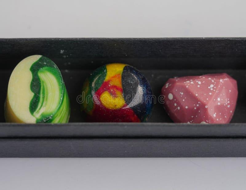 Makro- fotografia - szczegółowi ręcznie robiony cukierki zdjęcia royalty free