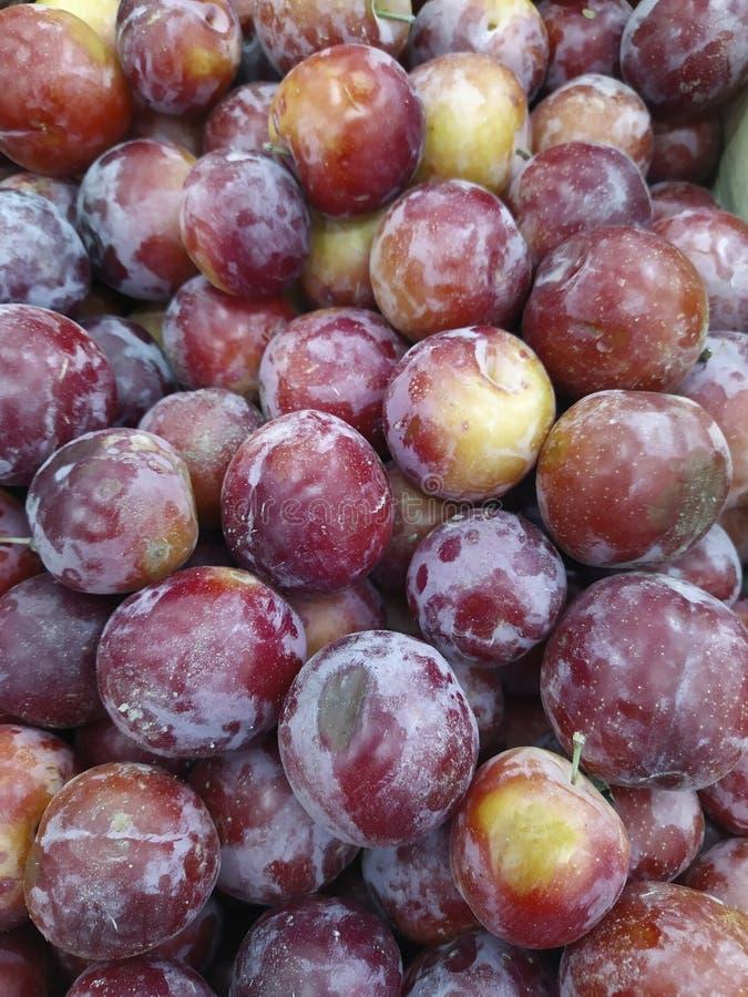 Makro- fotografii karmowe owocowe śliwki Tekstury tło świeże błękitne śliwki Wizerunku produktu błękita owocowe śliwki pole limit zdjęcie stock