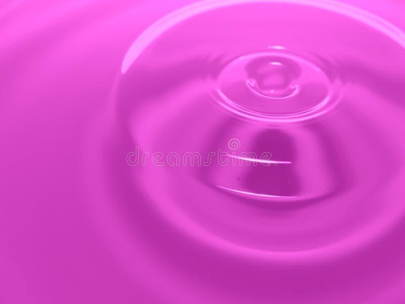 Makro- fotografii purpur menchii wody kropli, atramentu krople/bryzgają i czochry konceptualne dla środowiskowego, mokry, konserw zdjęcie stock