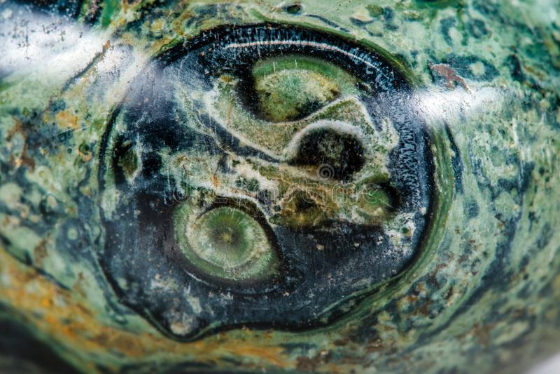 Makro- kopalina kamienia jaspisowy kambaba na białym tle zdjęcie stock