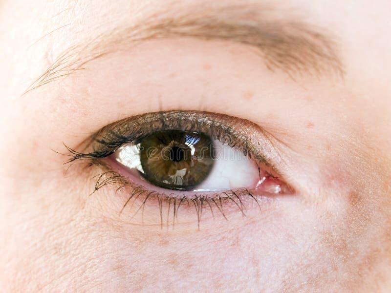 Makro- - ludzki oko zdjęcia royalty free