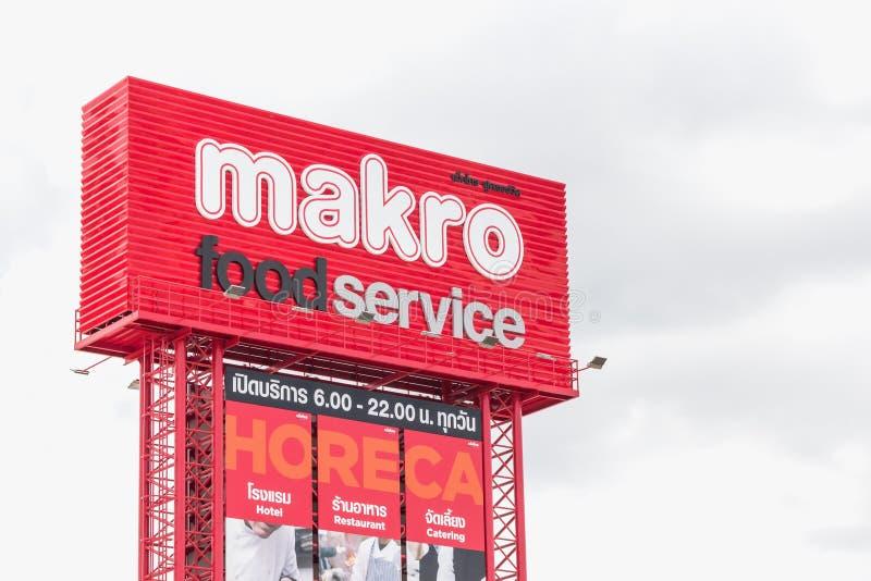 Makro matservice på Korat, Thailand royaltyfria foton