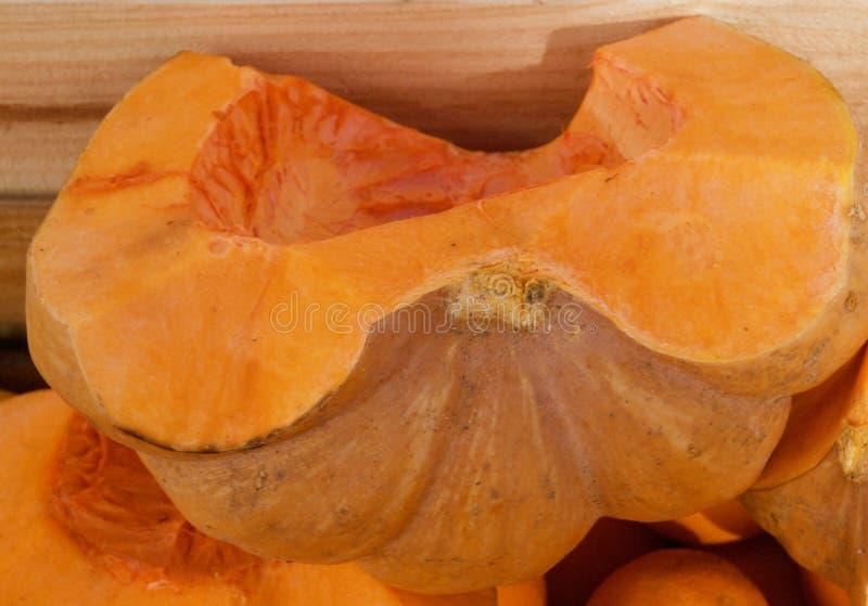 Makro- otwarty słodkiej pomarańcze melon fotografia stock