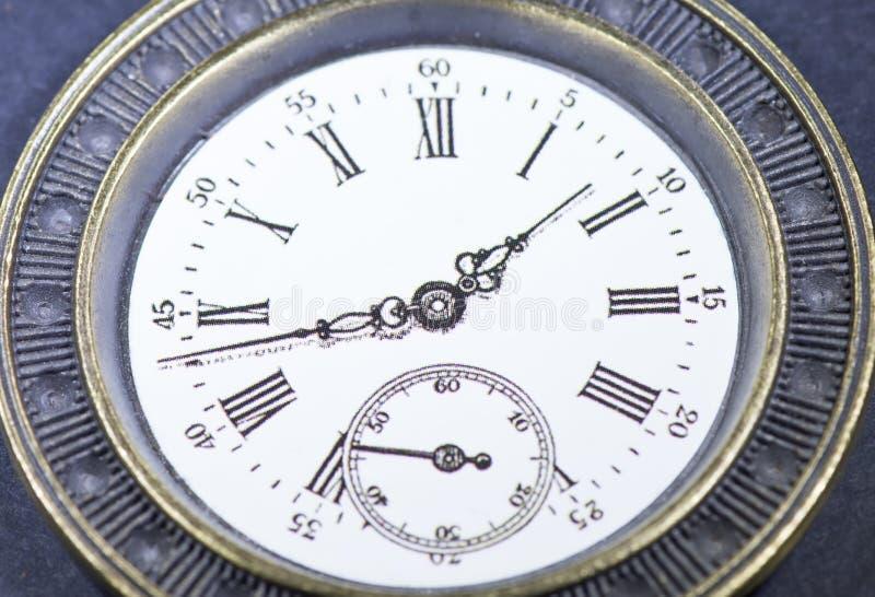 Makro- rocznika zegar fotografia royalty free
