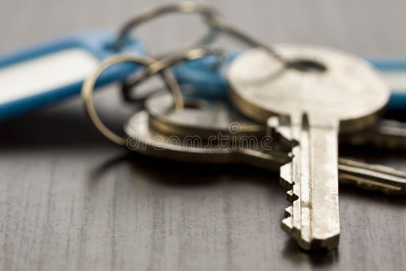 Makro- strzał Konceptualni Domowi klucze obraz royalty free