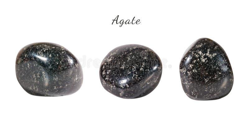 Makro- strzelanina naturalny gemstone Surowy kopalny agat, India Na biały tle odosobniony przedmiot zdjęcia stock