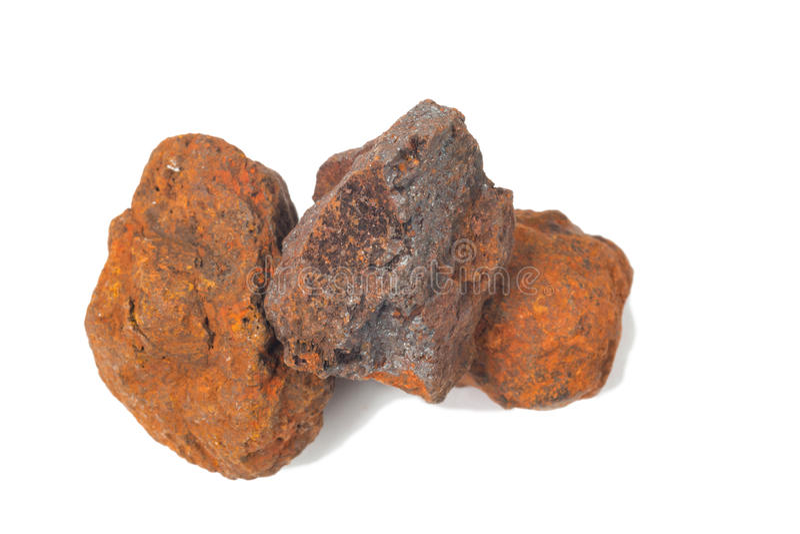 Makro- strzelanina próbki naturalna skała - próbka hematyt obrazy stock