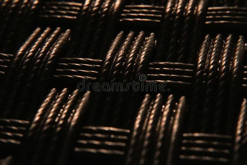 Makro- tło wyplatająca tekstura zdjęcia stock