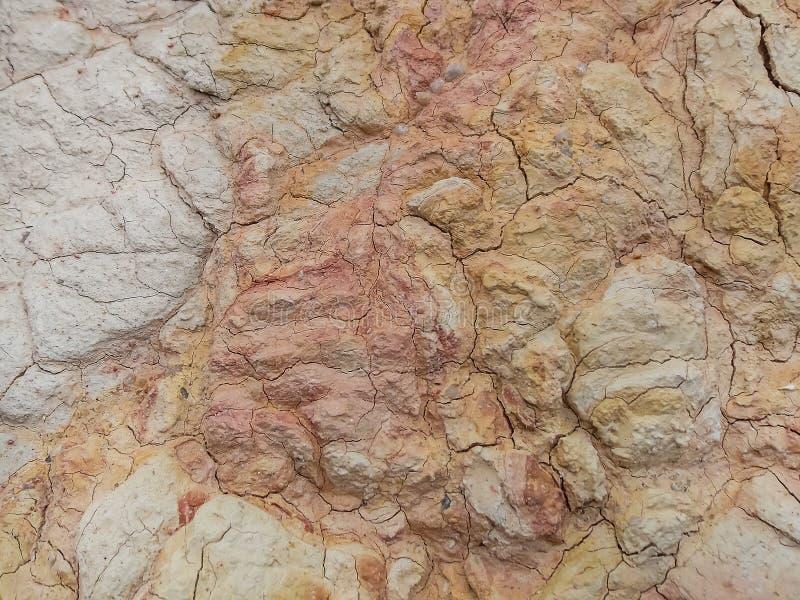 Makro- tekstura Czerwona glina i brud obrazy stock