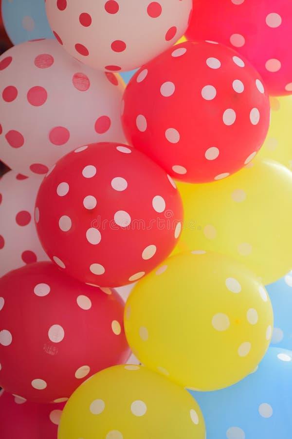 Makro- tekstura kolorowi gumowi balony obraz royalty free