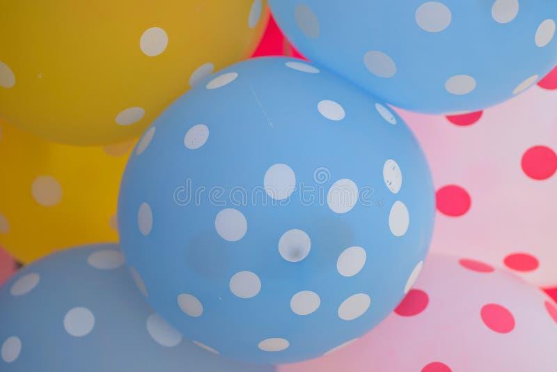 Makro- tekstura kolorowi gumowi balony obraz stock