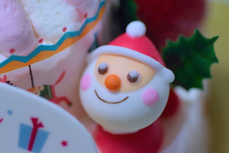 Makro- tekstura wielki boże narodzenie tort zdjęcie royalty free