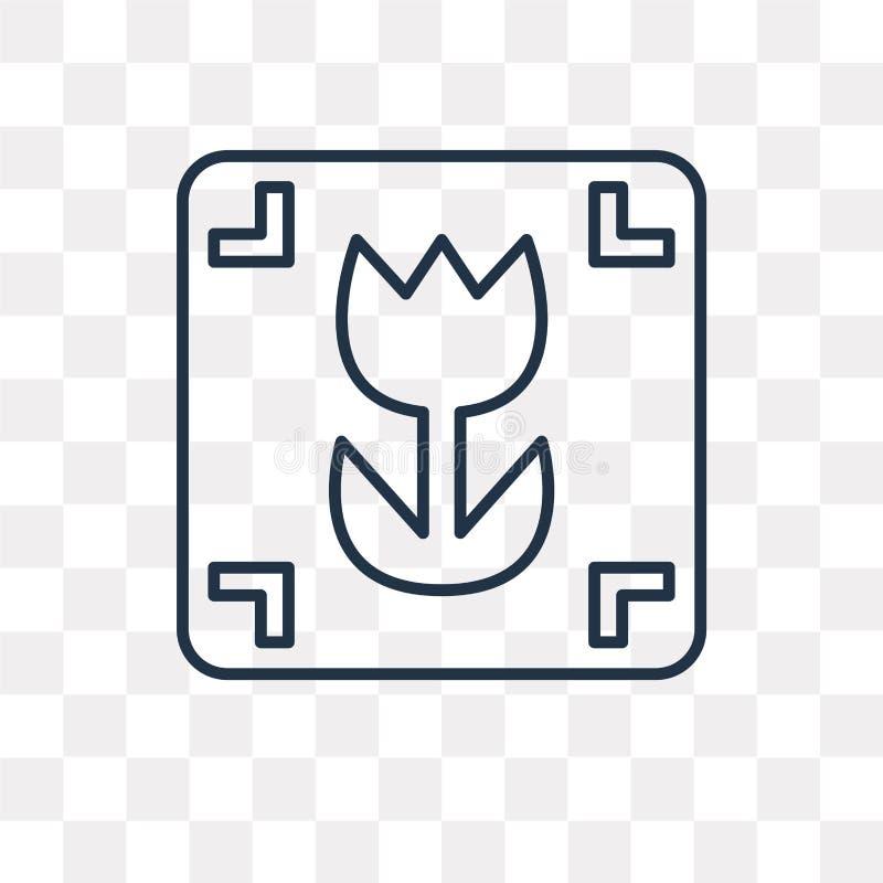 Makro- wektorowa ikona odizolowywająca na przejrzystym tle, liniowy mac royalty ilustracja