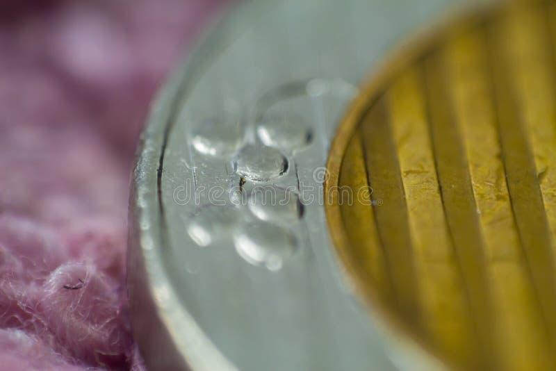 Makro- zbliżenie izraelska pieniądze moneta 10 sykl obrazy stock