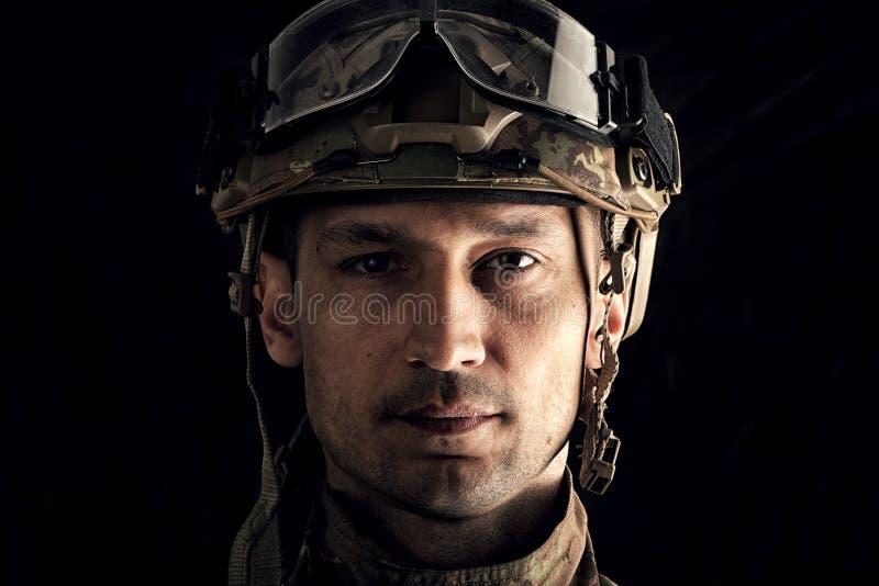 Makroansicht des Soldaten lizenzfreie stockfotografie