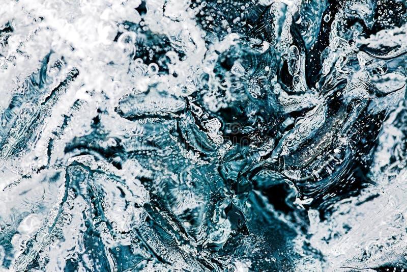 Makrobeschaffenheit des Eises stockfotografie