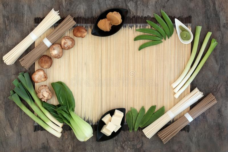 Makrobiotische Diät-Biokost lizenzfreies stockbild