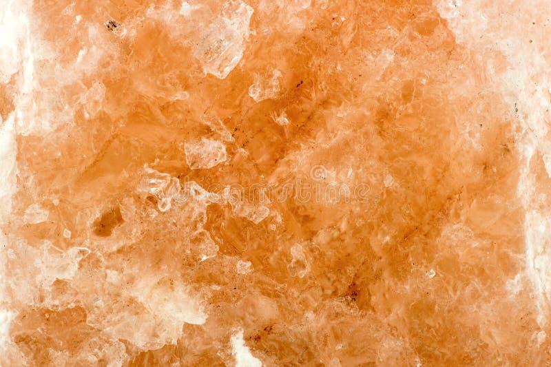 Makrocloseup av himalayan salt bakgrundstextur royaltyfri foto