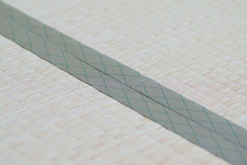 Japanische Bodenmatten makrodetails traditionellen japaner tatami bodenmatten stockfoto