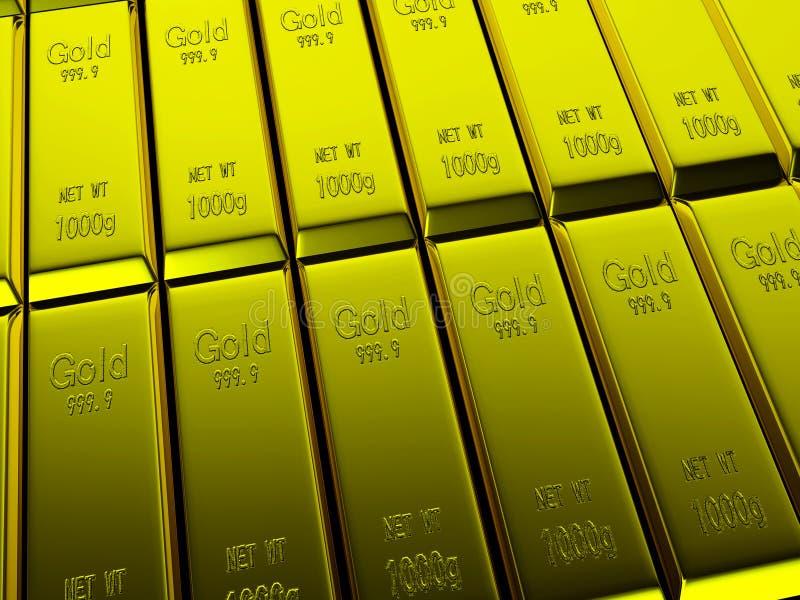 Makroen beskådar av ror av guld- bommar för stock illustrationer