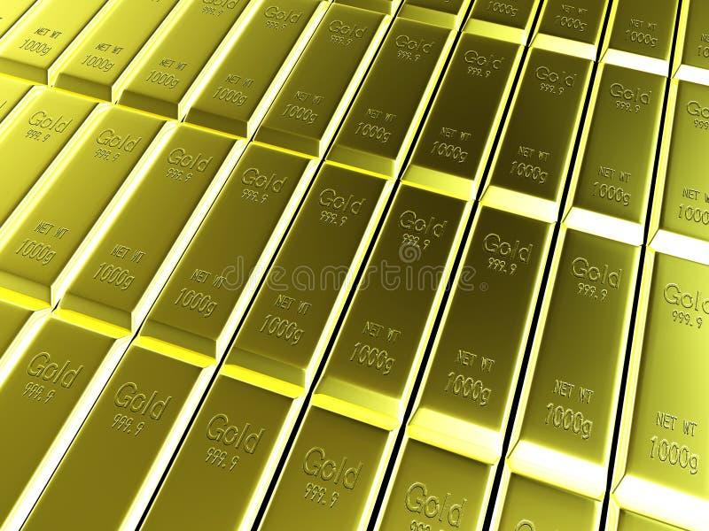 Makroen beskådar av ror av guld- bommar för royaltyfri illustrationer