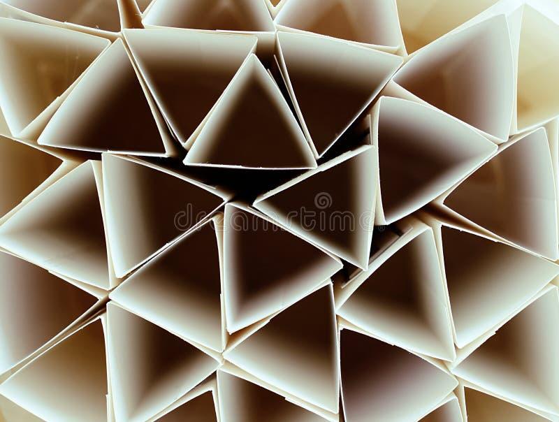 Makrofoto av geometriska former av papper i svartvitt, thr royaltyfria foton
