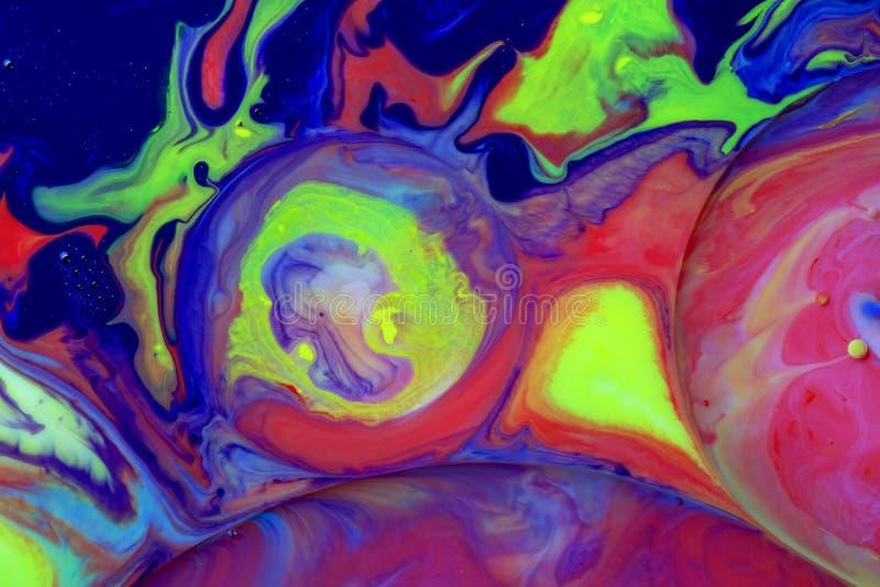 Makrofotografi av färgrika bubblor X royaltyfri fotografi