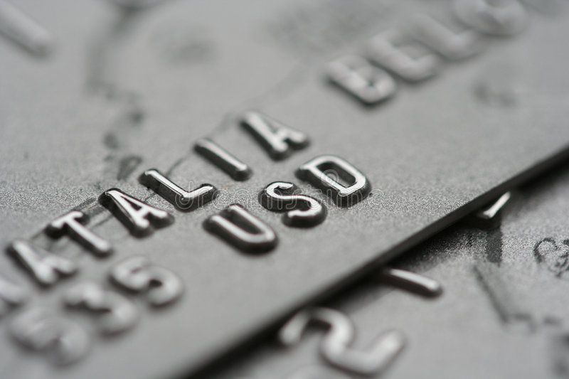 Makroschuß der Kreditkarten stockfotografie