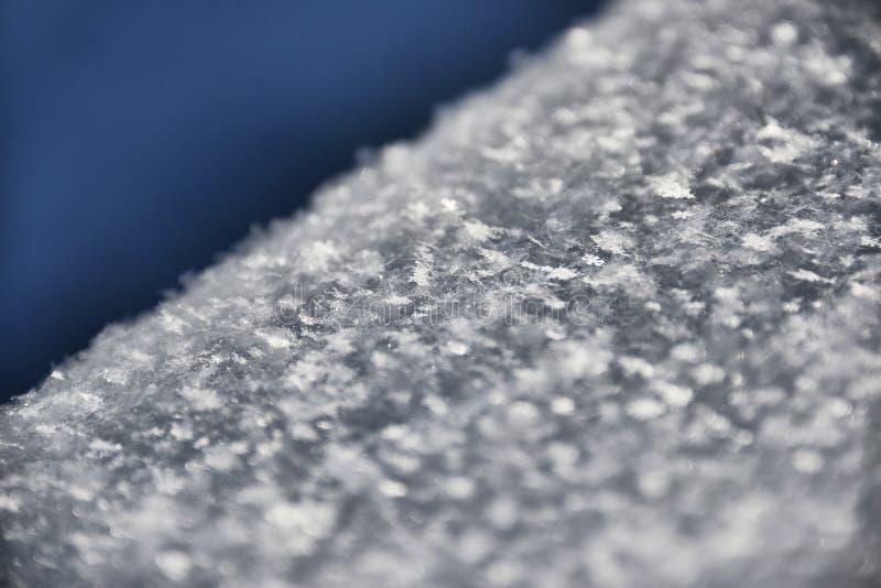 Makroschuß von der Schneeflocke lizenzfreie stockbilder