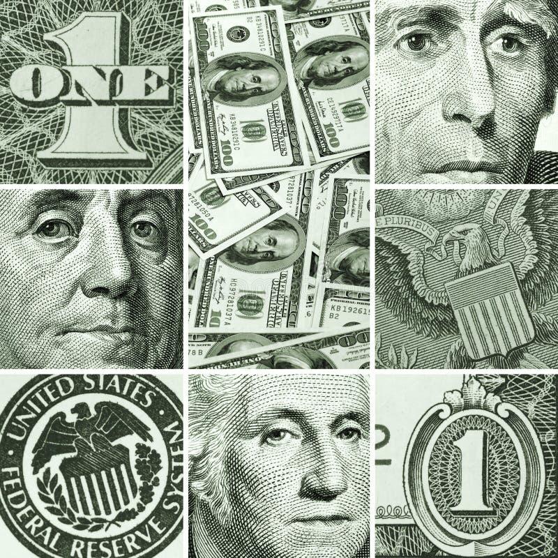 Makrouppsättning från USA dollar royaltyfri foto