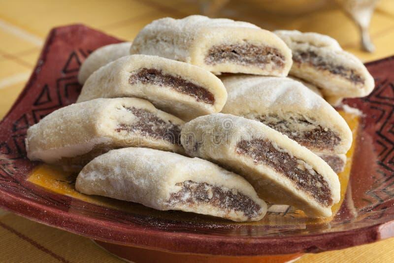 Makrout marocchino tradizionale, biscotti della data fotografia stock