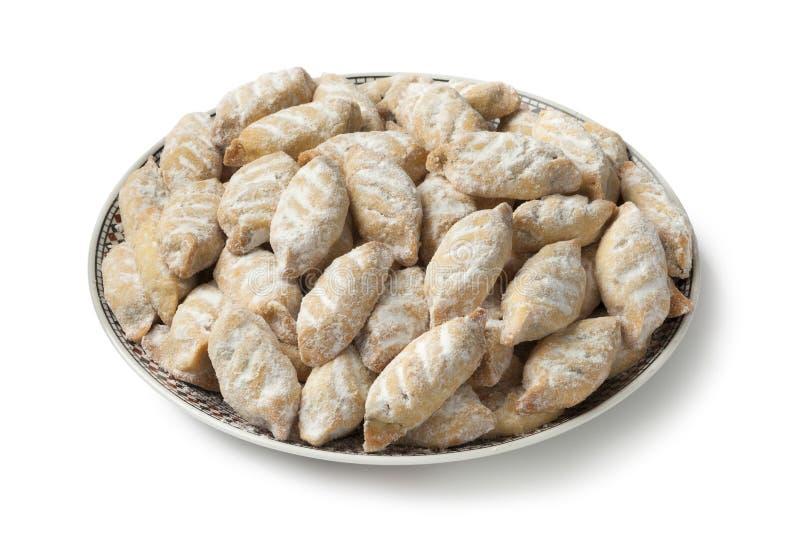 Makrout marocchino tradizionale, biscotti della data immagine stock libera da diritti