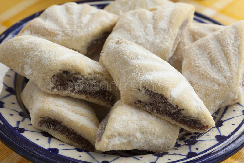 Makrout marroquino tradicional, cookies da data imagem de stock royalty free