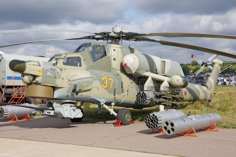 MAKS 2009. Helicóptero Mi-28 imagens de stock royalty free
