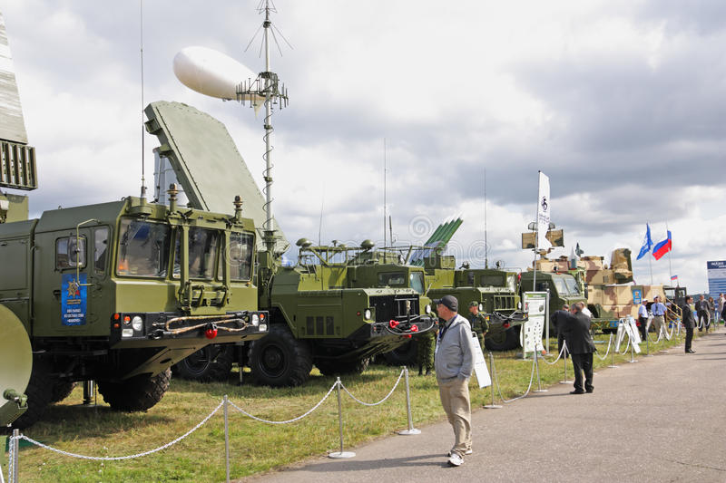 MAKS 2009. S-300 (missile) Favorit Editorial Image
