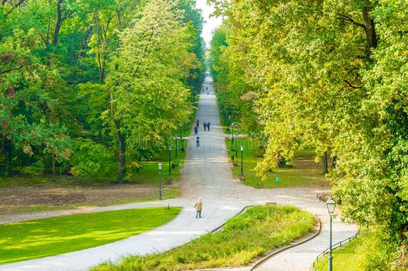 Maksimir del parco a Zagabria immagini stock libere da diritti